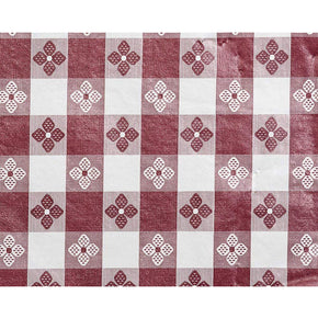Trimplace (MAROON) 54 Inch Vinyl Tavern Check Fabric With Non Woven Flannel Back