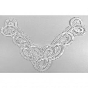Trimplace White Contemporary Venice Lace Front Yoke
