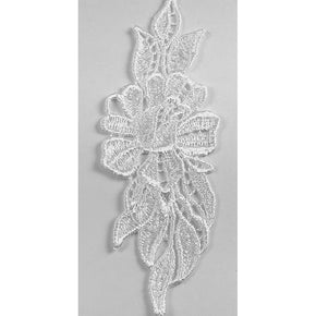 "Trimplace White Venice Lace Flower 1-3/4"" x 5"""