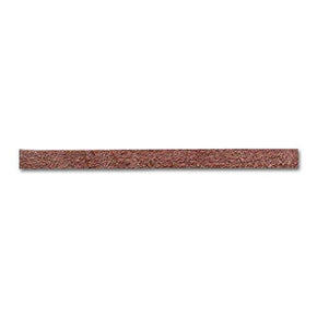 BROWN 1/8 INCH FLAT SUEDE LEATHER