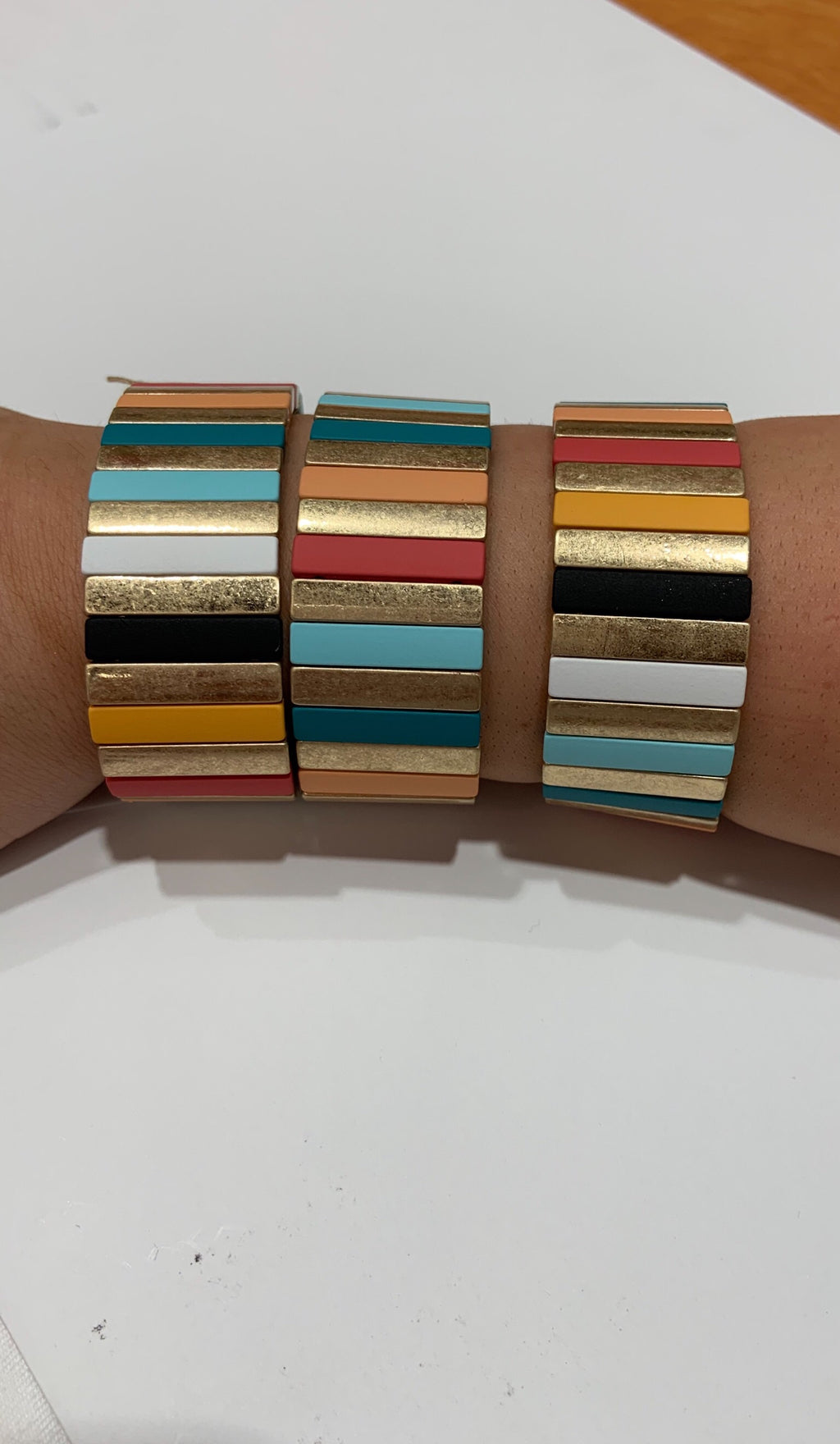 Large Multicolored Tile Bracelet