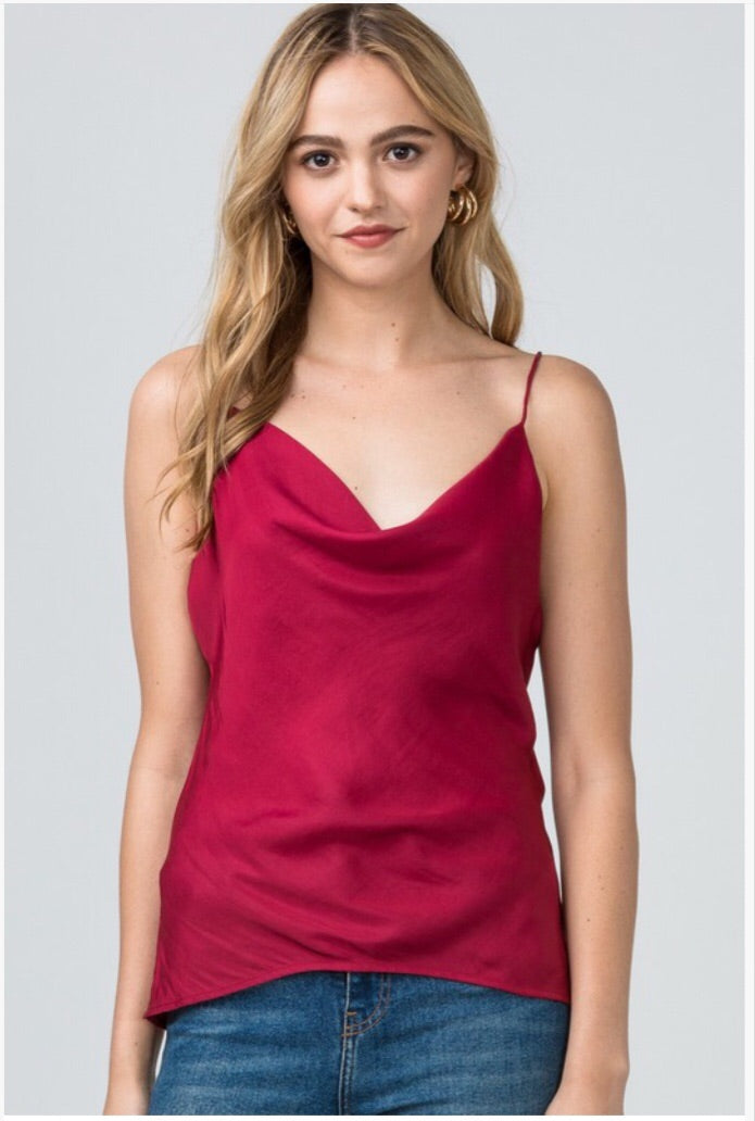 Apple tank maroon
