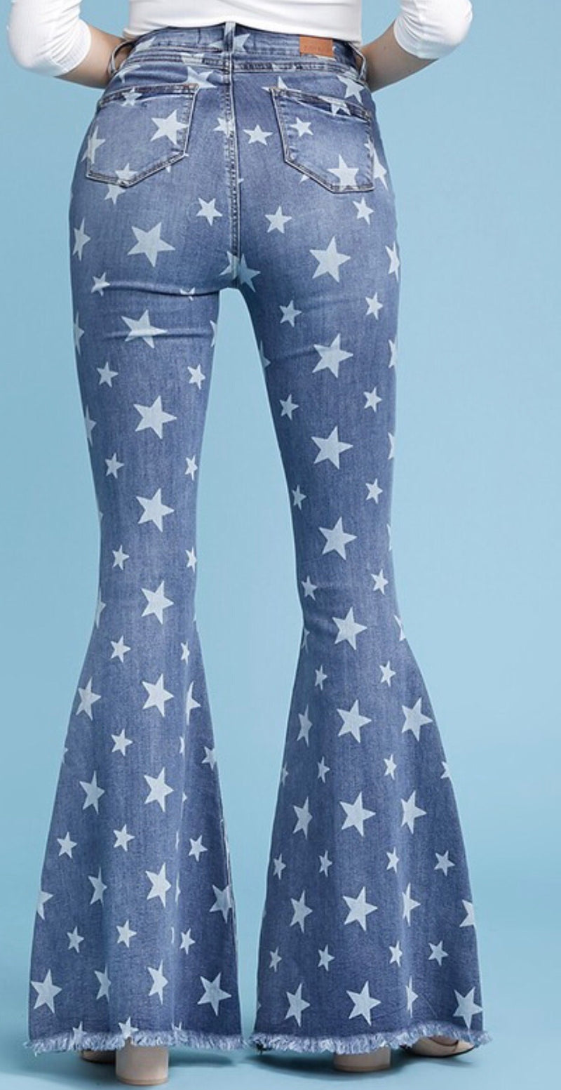 Star Denim Flares