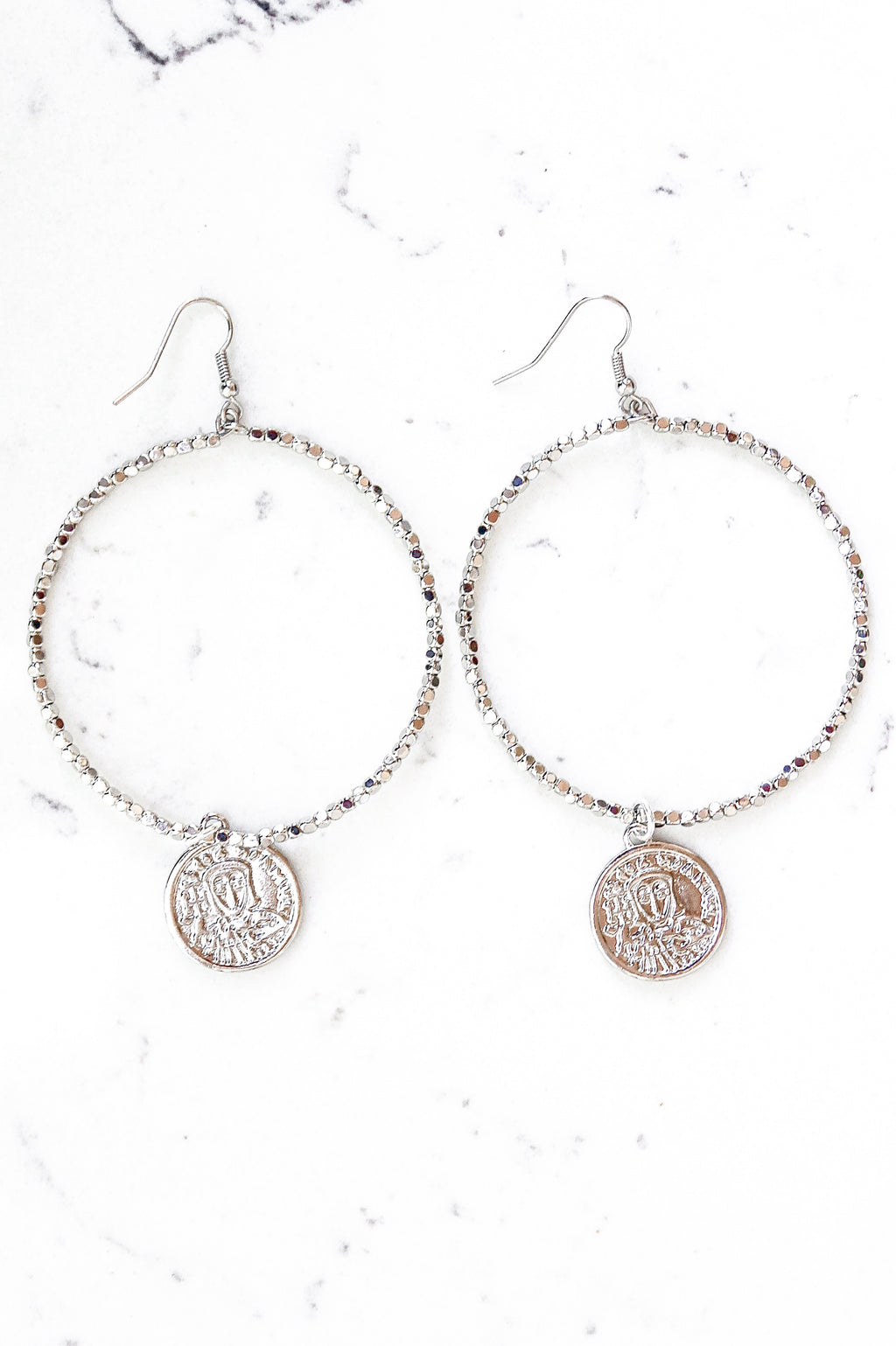 Silver Cleo Hoop Earrings