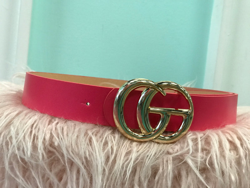 Hot Pink Designer Inspired Belt