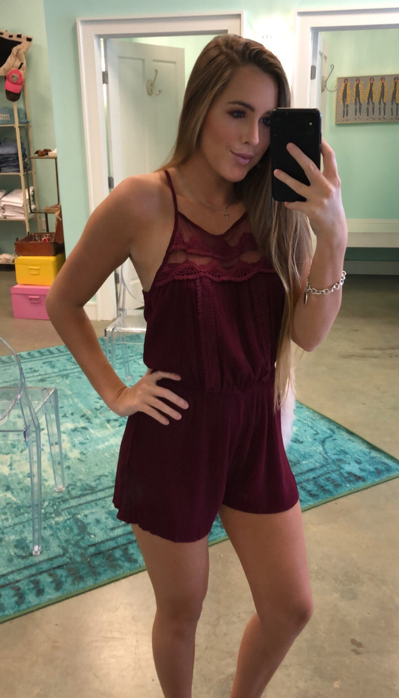 Rivers Maroon Romper
