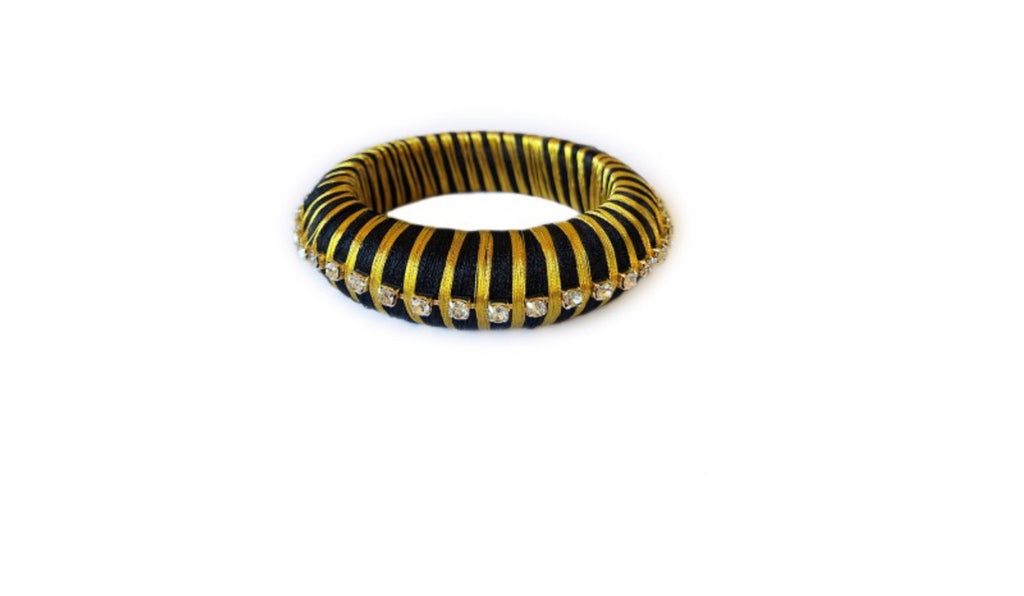 Black Silk Wrap Bangle