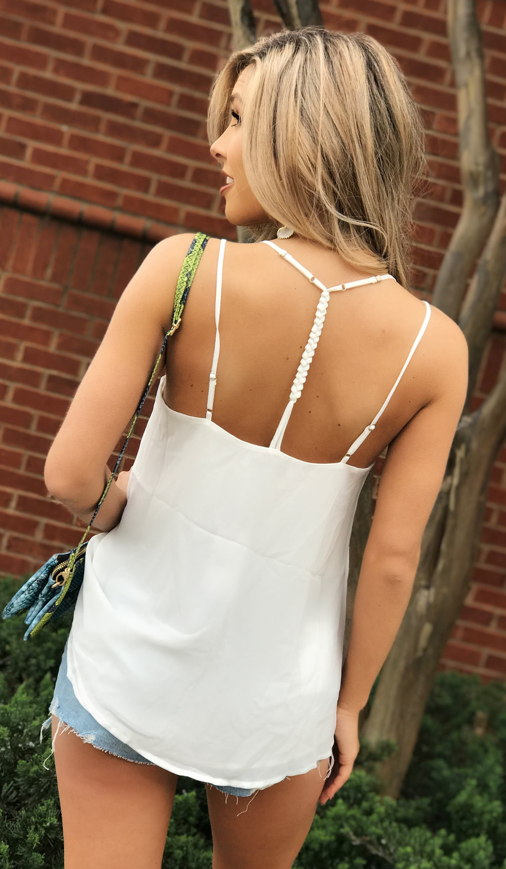 Bestie Tank in White