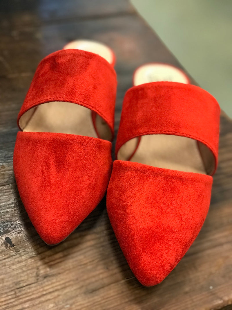 Maisy Red Rust Mule