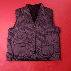 Vintage windbreaker style insulated vest Mens sz Small
