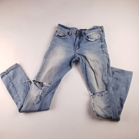 Ripped Blue Jeans Mens sz 28x31