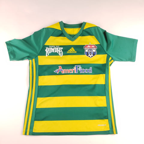 Adidas Tampa Bay Rowdies Green and Yellow Jersey Mens sz S