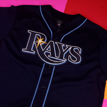 Load image into Gallery viewer, MLB Majestic Tampa Bay Rays Evan Longoria baseball jersey Mens Large