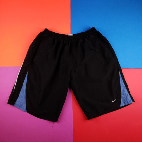 Vintage NIKE windbreaker colorblock swooshie shorts swimming trunks Mens | XL