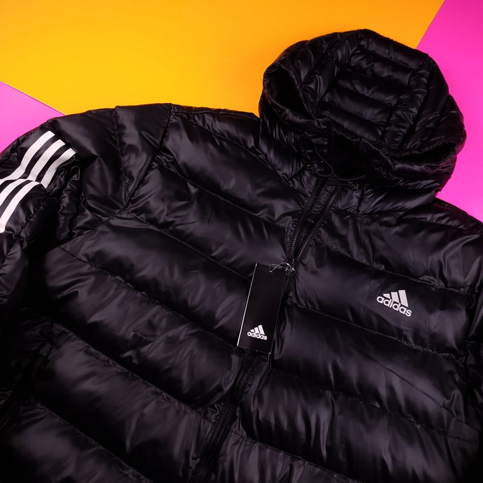 Adidas Puffy WIndbreaker Insulated Jacket Mens XL
