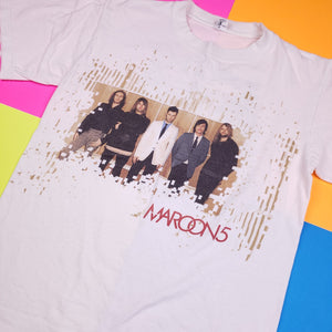 y2k 2005 Maroon 5 Double Sided tour t shirt Mens S