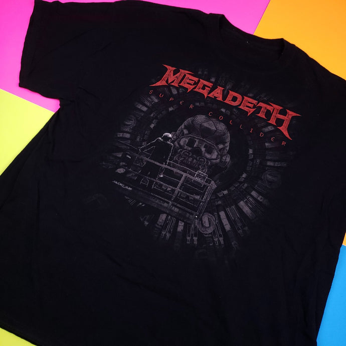 MEGADETH Super Collider Tour Double Sided t shirt mens XL