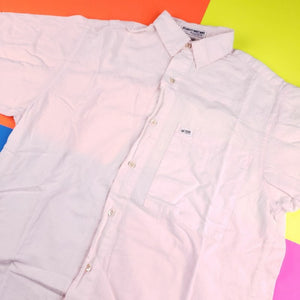 Vintage 80s George Marciano Rare Pink Guess Button Up Shirt Size 1