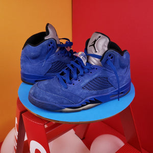 Air Jordan 5 Retro 'Blue Suede' 2017 sneakers US Sz 8.5
