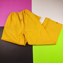 Load image into Gallery viewer, Vintage 90s Full Rubber Yellow Rain Pants Mens | L