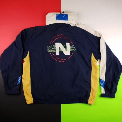 Rare vintage 90s Nautica Competition Sailing windbreaker colorblock jacket Large
