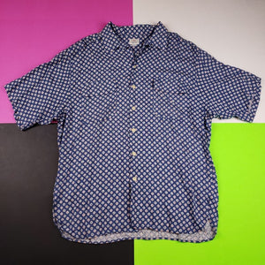 Vintage 80s George Marciano Guess polka dot button up t shirt Mens | XL
