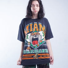 Load image into Gallery viewer, Vintage 90s Taz Looney Tunes Miami Hurricanes T shirt Mens | L