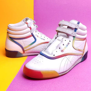 Vintage Style Reebok MultiColored Maddness Hightop sneaker Size 5y or UK 4.5