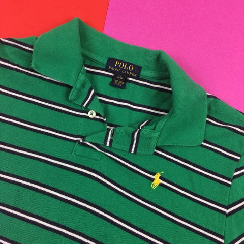 New Aged  Polo Ralph Lauren Striped Polo shirt Men's size L