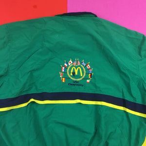 Vintage 90s LPGA McDonalds colorblock embroidered world windbreaker jacket mens 2XL