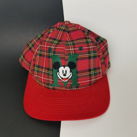 Plaid Mickey Mouse 5 Panel Hat