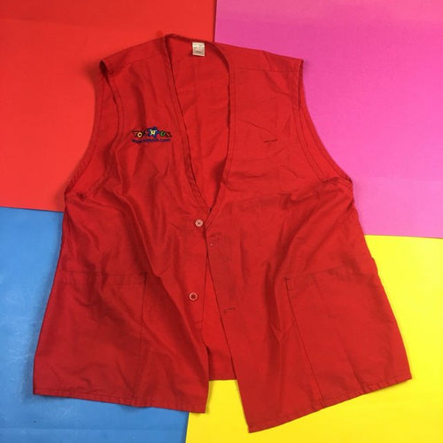 Vintage Toys R US Red Vest Mens | S
