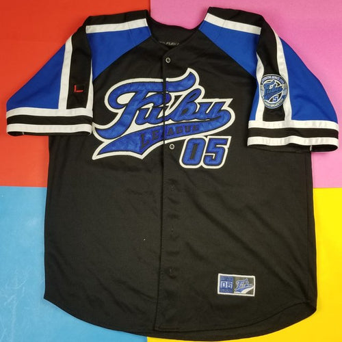Vintage 90s FUBU The Collection #05 Baseball Jersey Mens XXL