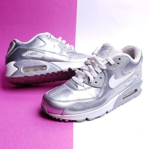 NIKE Air Max 90 GS 'Metallic Silver' Size 6.5(Y)