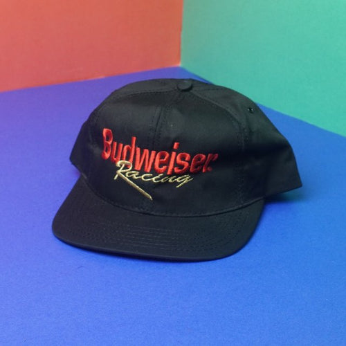 Vintage 90s BudWeiser Racing embroidered snapback hat