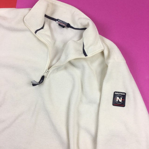 Vintage 90s Nautica Competition USA Made fleece Mens | XL