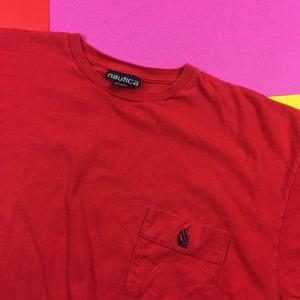 Vintage 90s Nautica Pocket T shirt Mens | XL