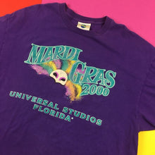 Load image into Gallery viewer, Vintage 2000s Mardi Gras UNIVERSAL STUDIOS FLORIDA T shirt Mens | XL