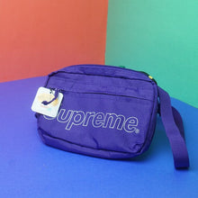 Load image into Gallery viewer, SUPREME Purple Side Bag FW18 Deadstock BNWT Streetwear