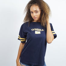 Load image into Gallery viewer, Navy Blue And Gold Oneil T SHirt Mens | Small