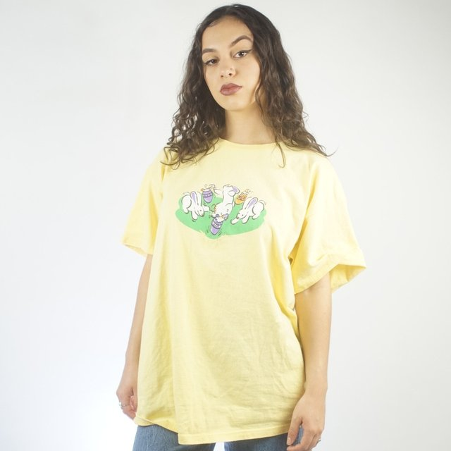 Yellow Bunny Crop Top woMens | Large