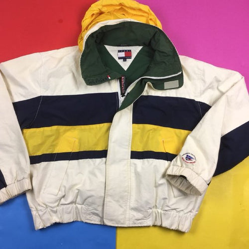 Vintage 90s RARE Tommy Sailing Colorblock jacket Mens | XL nautical