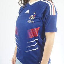 Load image into Gallery viewer, Adidas French Futbol Federation jersey Womens medium