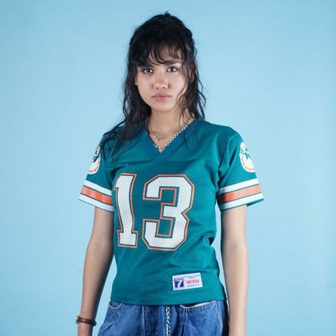 Vintage 90s LOGO 7 Miami Dolphins jersey youth M