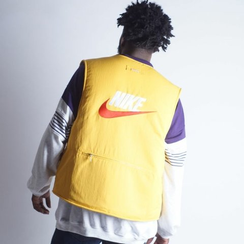 NIKE x SUPREME Fleece windbreaker reversible vest DEADSTOCK Mens M