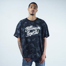 Load image into Gallery viewer, Billionaire Boys Club all over GALAXY spellout t shirt mens 3XL