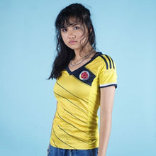 Load image into Gallery viewer, Adidas Colombia soccer futbol jersey womens S CLIMACOOL