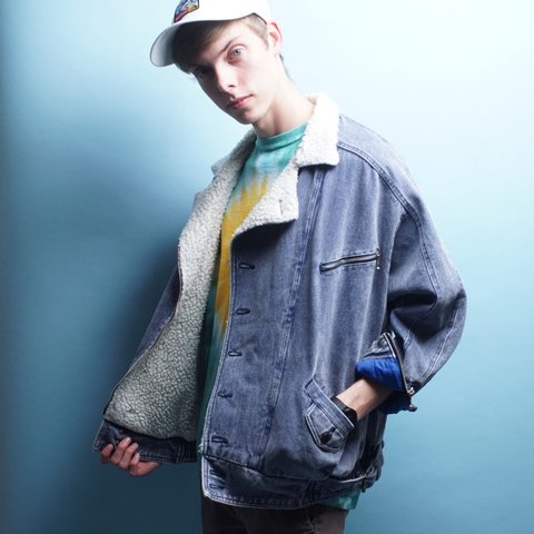 Vintage Denim Sherpa Mens | Size large