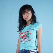 Load image into Gallery viewer, y2k Ed Hardy crazy double sided graphic t shirt womens size small
