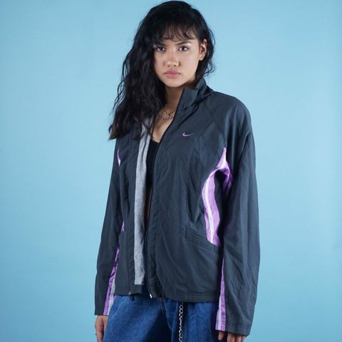 Nike Track windbreaker jacket colorblock Womens | L